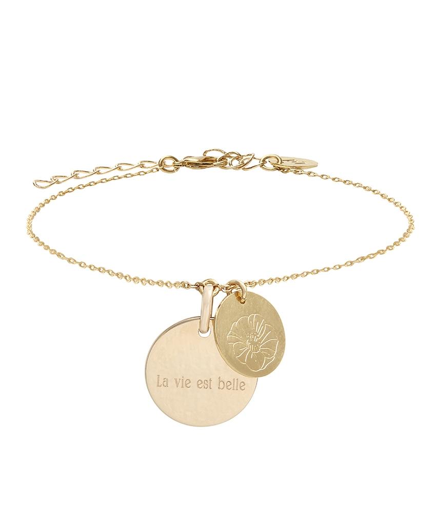 bracelet medaille personnalisé